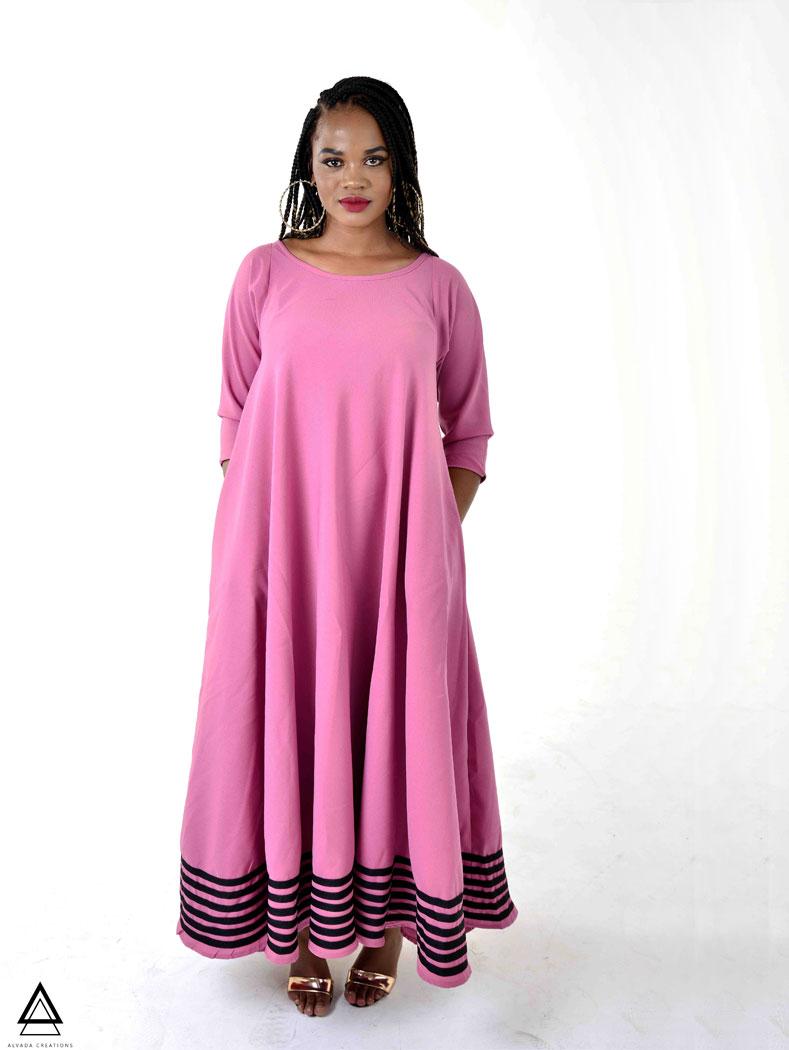 Tebogo Maxi Dress – Pink
