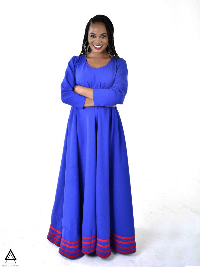 Tebogo Maxi Dress – Royal Blue