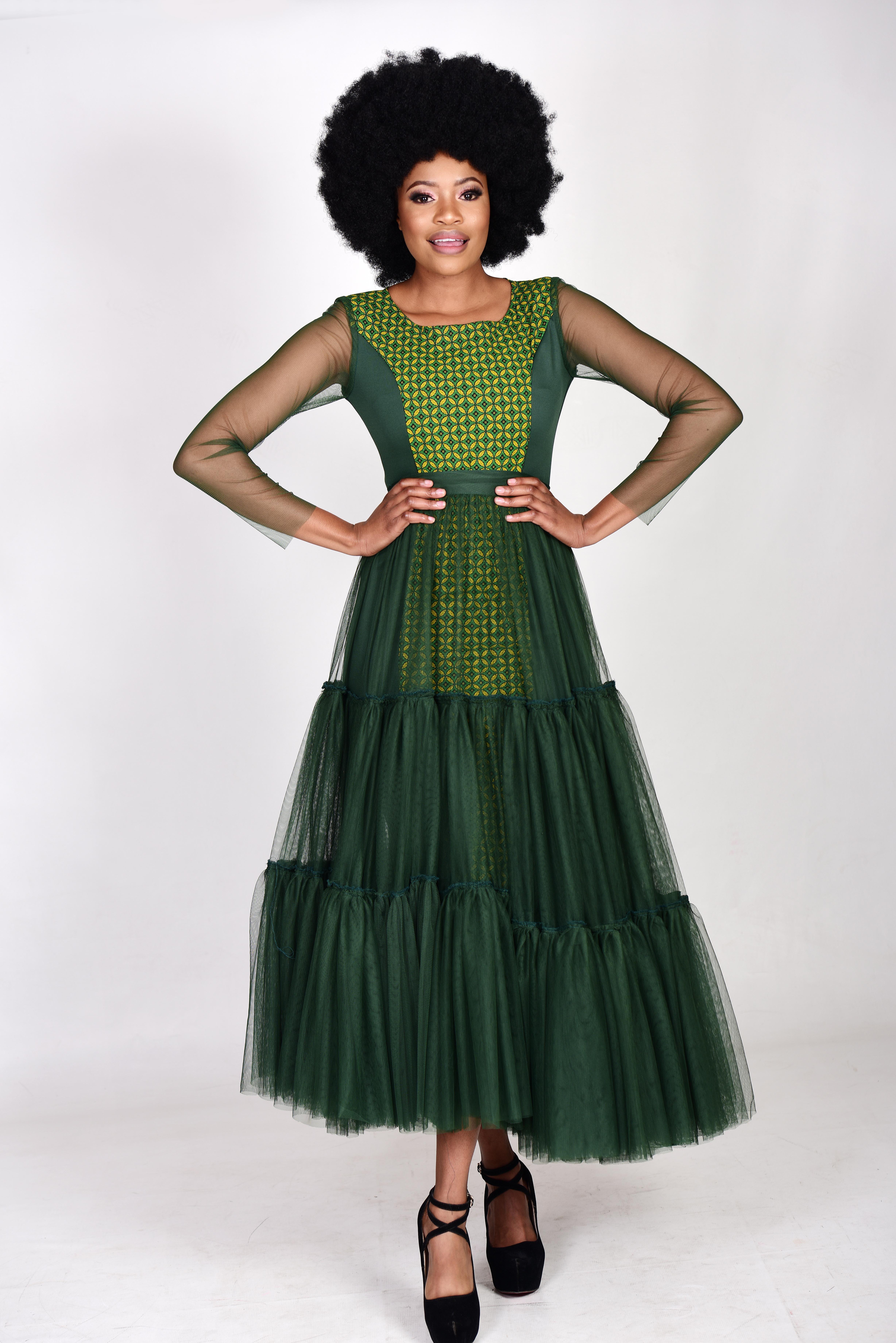 Seshweshwe 2 in 1 Pencil Dress