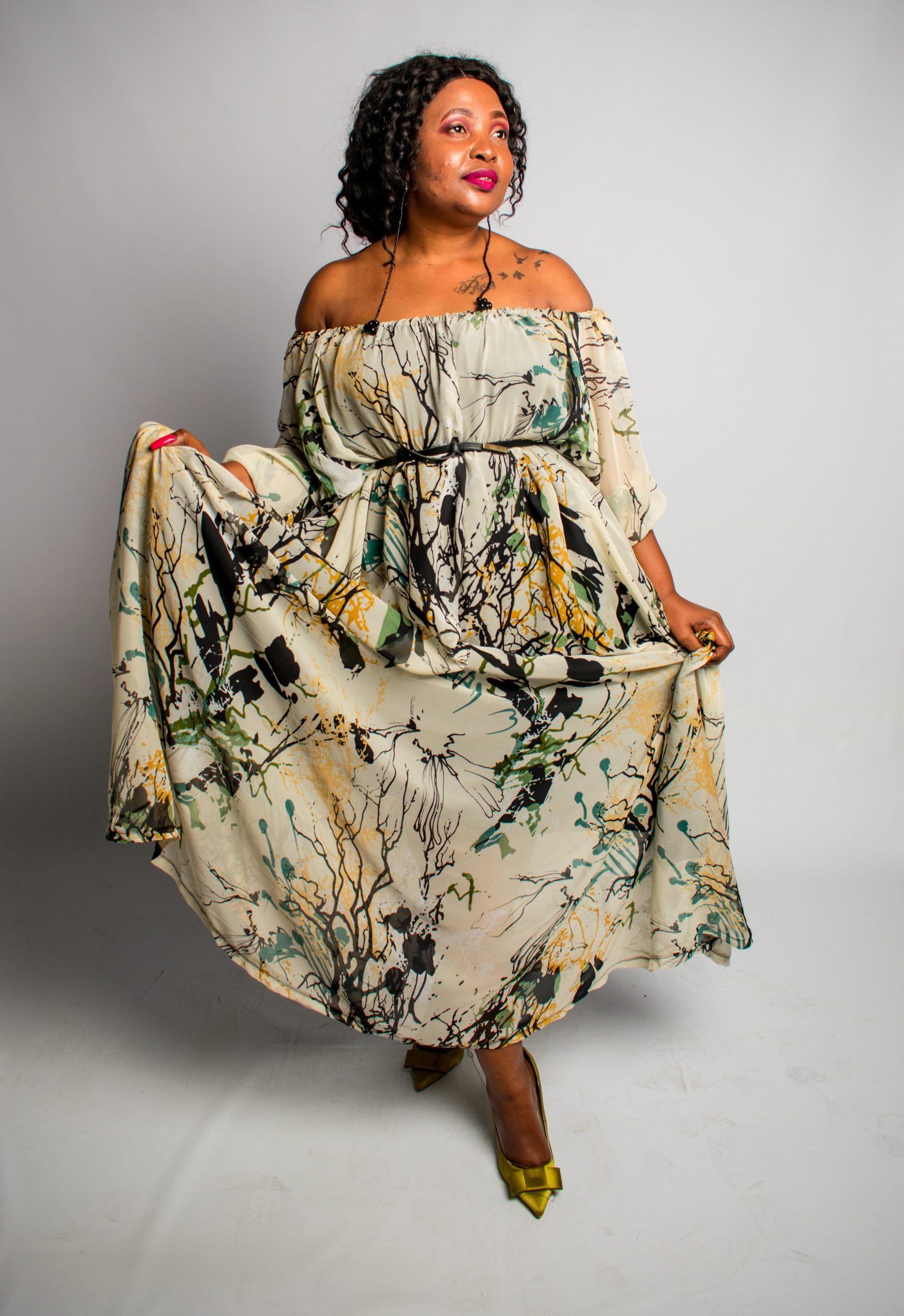 Terry Chiffon Dress